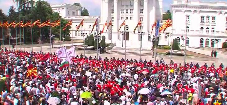 протестираха срещу Груевски