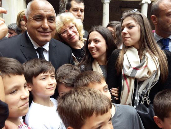 Бойко Борисов с ученици в Рим