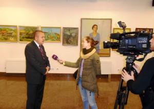 Медиен итерервс към изложбата на художниците от Бесарабия