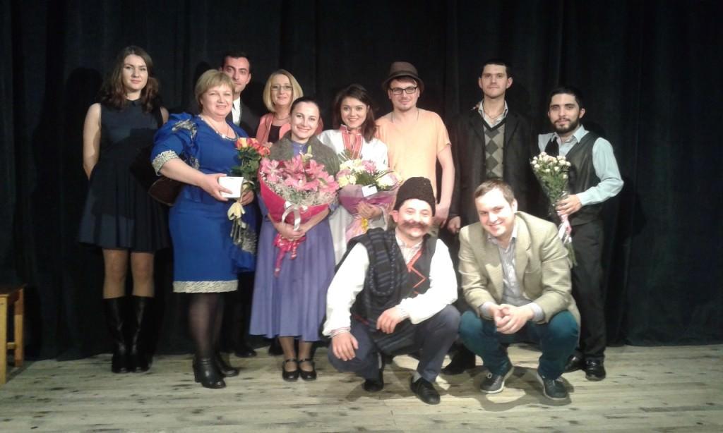 Актьорите от българският театър в Одеса