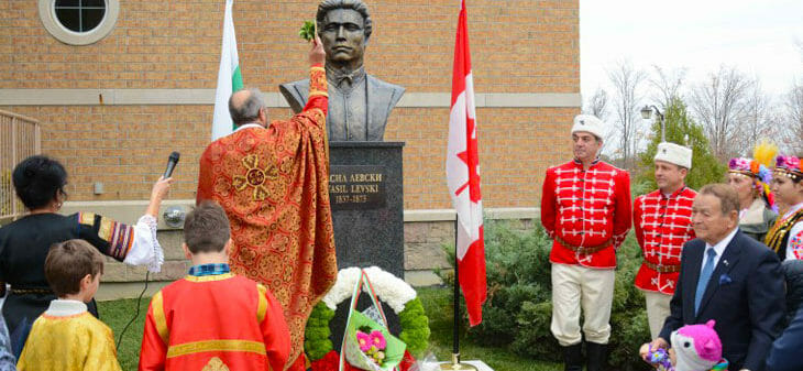 Паметник на Левски до Торонто